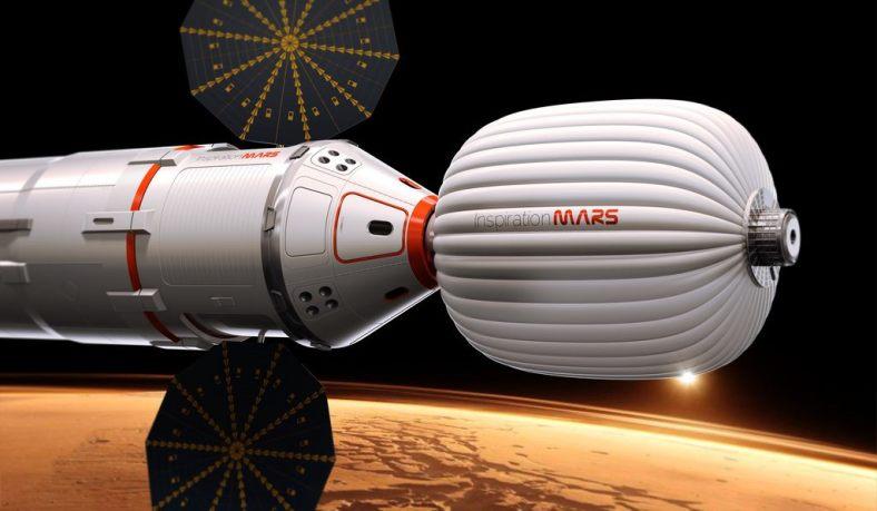 An artist's concept of Inspiration Mars Inspiration Mars Credit: Inspiration Mars