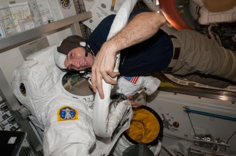 Astronauts Prepare for Spacewalks