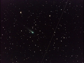 "Comet ISON continues to streak across the sky, hurtling toward our sun at a stunning 105,000 mph. Now inside Venus' orbit, there are just 17 more days before the comet reaches perihelion on Nov. 28. But will ISON be the ""comet of the century,"" or will it break apart before it even reaches that point? In the early morning of Oct. 25, 2013, NASA's Marshall Space Flight Center in Huntsville, Ala., used a 14"" telescope to capture this image of Comet ISON. (Photo : NASA/MSFC/Aaron Kingery)"