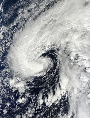 subtropical storm Melissa Credit: NASA Goddard MODIS Rapid Response Team