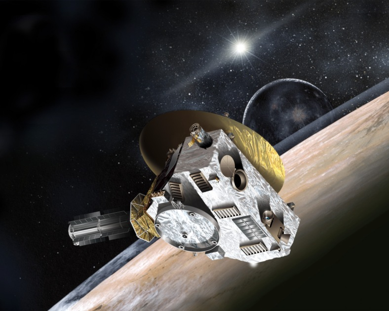 Artist concept of New Horizons spacecraft. Credit: Johns Hopkins University Applied Physics Laboratory/Southwest Research Institute (JHUAPL/SwRI)