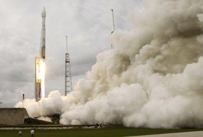 NASA's Maven, atop a United Launch Alliance Atlas 5 rocket (AP Photo/John Raoux)