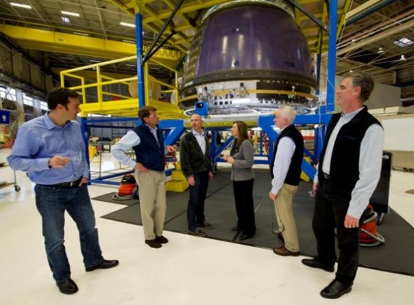 NASA Deputy Administrator Tours Blue Origin  Photo Credit: NASA/Bill Ingalls