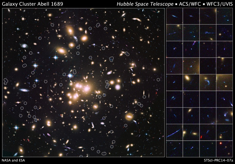 Galaxy Cluster Abell 1689 - Hubble Space Telescope